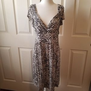 One clothing knotted deep V sexy sweetheart dress